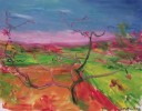 龍泉桃花 布面油畫2005年作