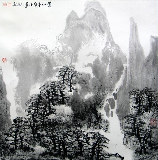 黄山冬雪小景